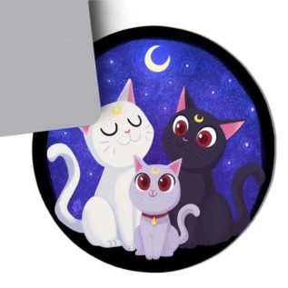 mousepad gatos catlover sailor moon regalo